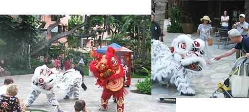 中国の旧正月を祝うライオンダンスを見に行こう