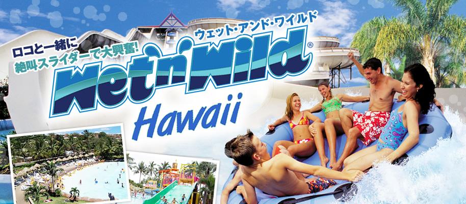 ロコと一緒に絶叫スライダーで大興奮!ウェット・アンド・ワイルド ハワイ