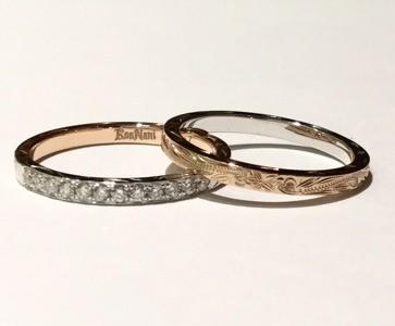 2ミリ幅ダイアモンドリング