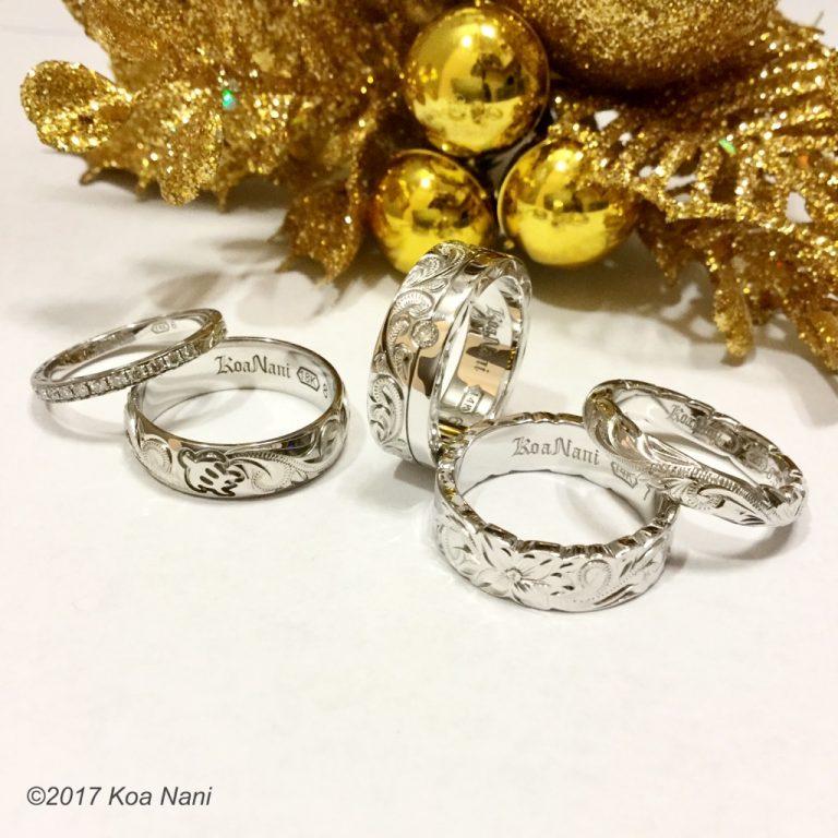 クリスマスのプレゼントはコアナニでホワイトゴールドリング