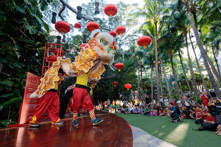 ロイヤル・ハワイアン・センターの旧正月イベント