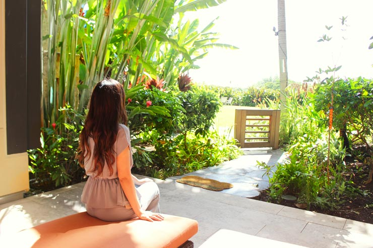 ハワイのパークレーン-ラナイからの眺め