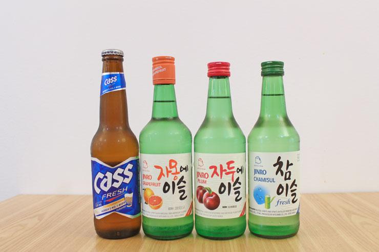 ソウル豆腐ハウスのアルコールメニュー