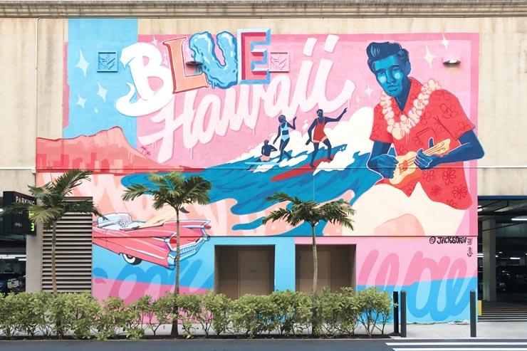パウワウで活躍中のアーティスト ジャック・ソーレンの壁画