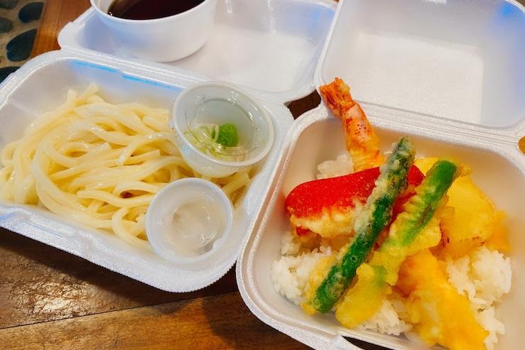 ミニ天丼とうどんのコンビ($13)