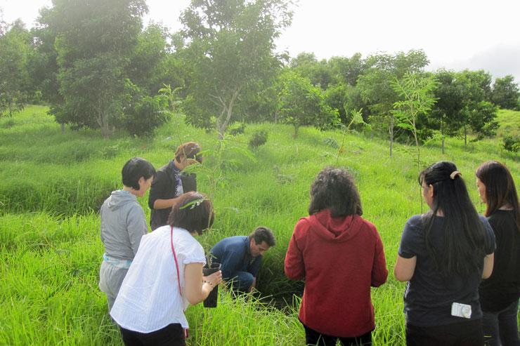 参加者それぞれが、思いを込めてコアの木を植えました