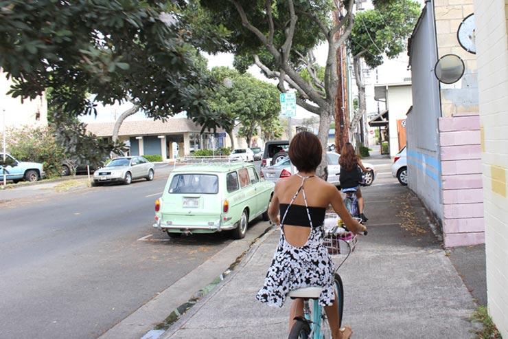 自転車でカイルアのビーチやタウンを効率よく回ろう!