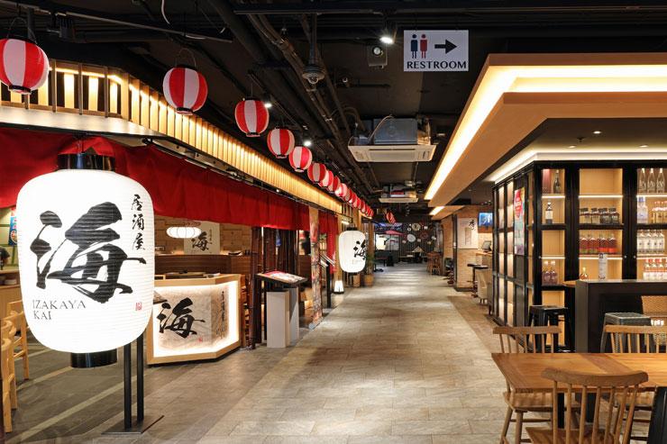 和食の名店が連なる「のれんストリート」
