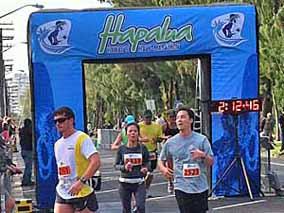 第1回ホノルル・ハーフマラソンは笑顔満開