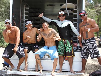 ハワイの消防士さんと最高のサーフィン体験!