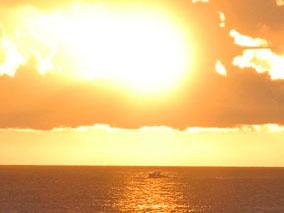 本当にキレイ!沖から見るサンセット