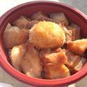 カイムキで噂の豚の角煮&半熟卵丼