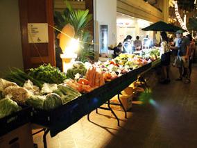 ハイアットでオーガニックなマーケット開催