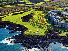 ハワイ島の大自然を感じてゴルフ三昧の贅沢