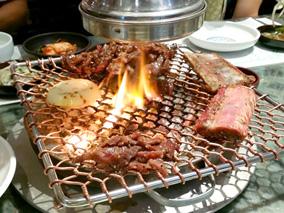 韓国焼肉の有名店で味わう絶品カルビ&冷麺