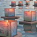 アラモアナビーチで4万人が参加の灯篭流し