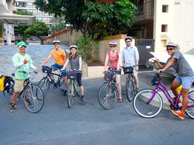 自転車ツアーでホノルル市内を楽しもう!
