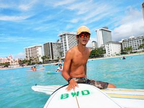 サーフィンとカヌーを一度に楽しむレッスン