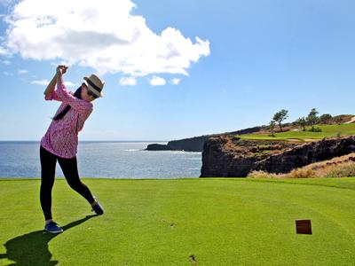 ラナイ島の海超えゴルフコースにしびれる!