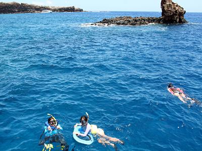 ラナイ島の海は碧かった!シュノーケル編