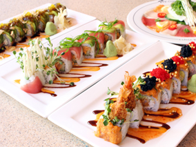 華やかな進化形ロール寿司をチェック【P.F.チャンズ・アジアン・ビストロ】