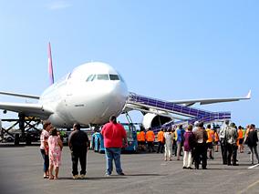 念願の羽田ーハワイ島コナ直行便の就航を見てきた!