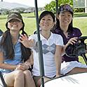 女性3人のゴルフデビューが1人半額に