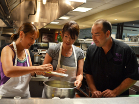 ロイズでの料理教室つき体験宿泊プラン