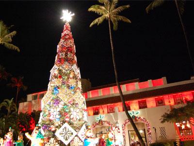 ダウンタウンで光のクリスマスを体験