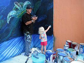 シーライフパークにワイランドの壁画が登場