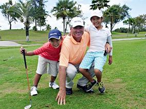 ゴールデンウィークは親子でゴルフデビュー
