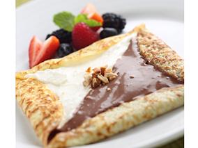 絶品!チョコ&パンナコッタの朝食クレープ