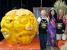 巨大かぼちゃの「ジャック・オ・ランタン」