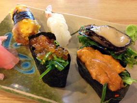 行列伝説を誇るマキティで豪華寿司を進呈