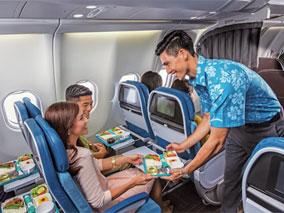 ハワイアンな機内キットで快適な空の旅を