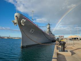 「日米最後の戦艦展」にミズーリ号が登場