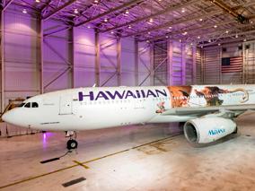ハワイアンの特別機でモアナが空へ