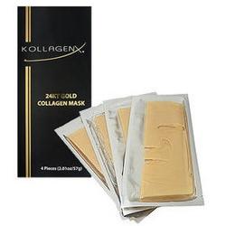 ゴールド&コラーゲンマスクで潤いツヤ肌に