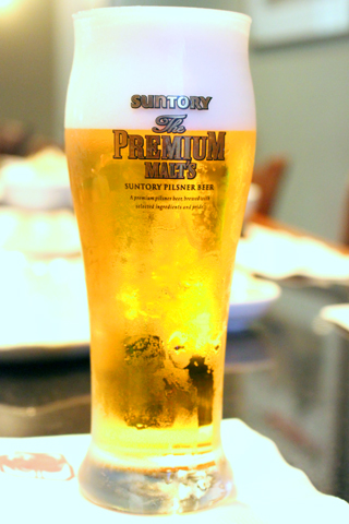 サントリーですからもちろんビール!