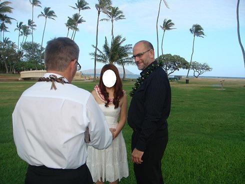 ♥カハラビーチで超ロマンチックな結婚式!