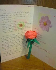 ♥国際婚活、手作りのバラにこめられた愛!