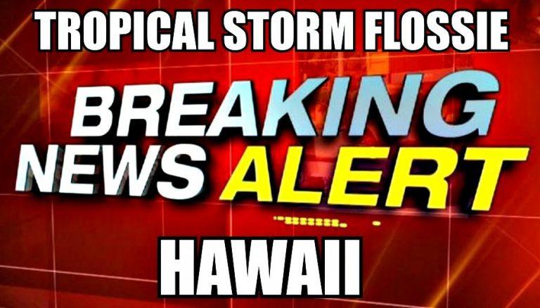 ★Tropical Storm Flossieハワイに上陸!