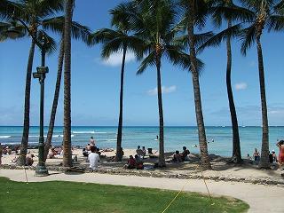 GW真っ只中、ハワイは青空クッキリ♪