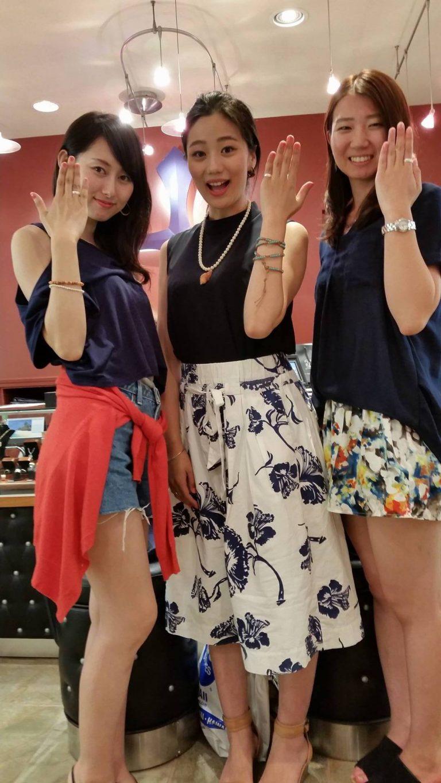 3人でオーダーメイドリング(*'▽')♡