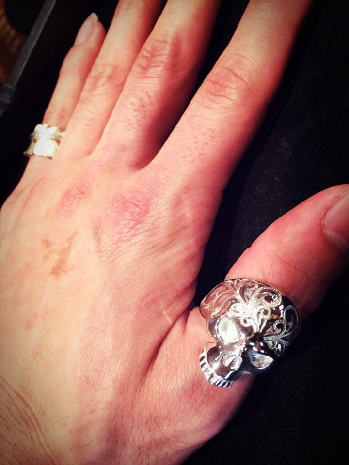 ☆Skull Ring(サムリング使用)☆