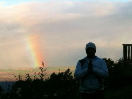 虹がよく現れます