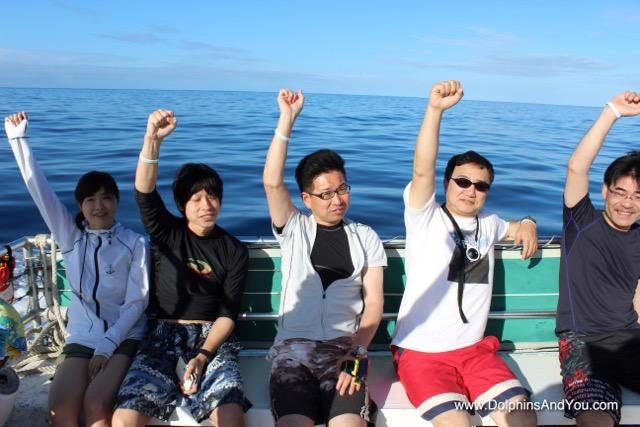 海の中で安全確認!