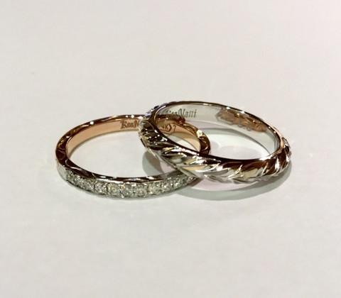結婚指輪と重ねて付けるハワイアンリング