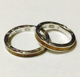 結婚指輪と重ね付けに
