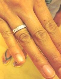 4mm幅ダイアモンドリング